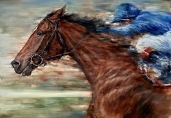 Sport of Kings Study II by Gary Benfield -  sized 32x23 inches. Available from Whitewall Galleries